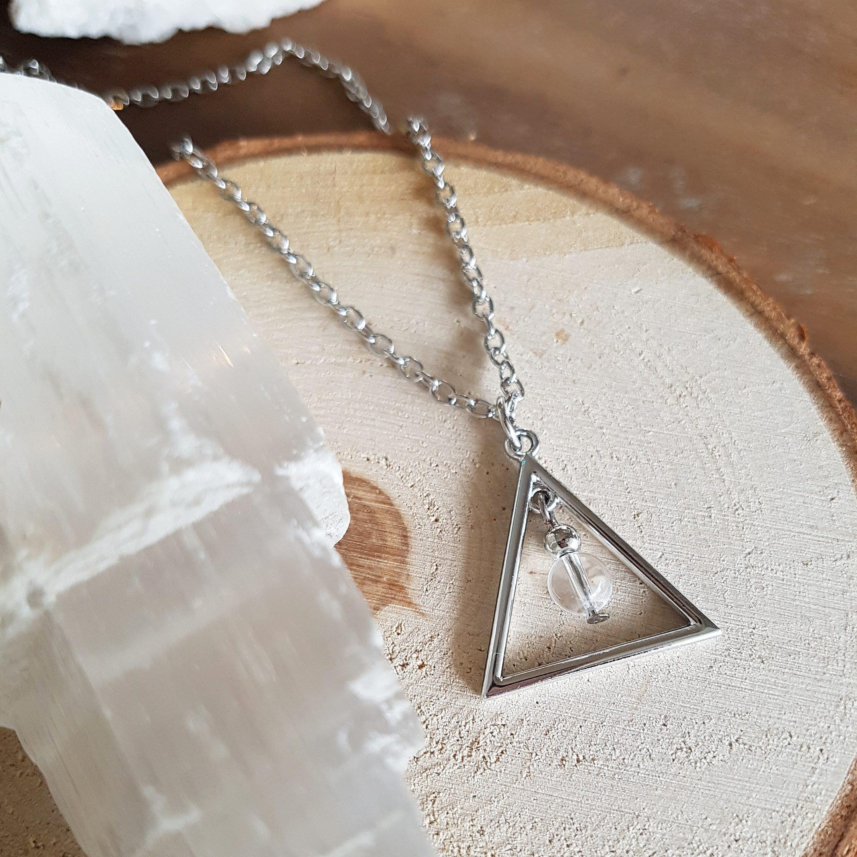 Bergkristal driehoek ketting