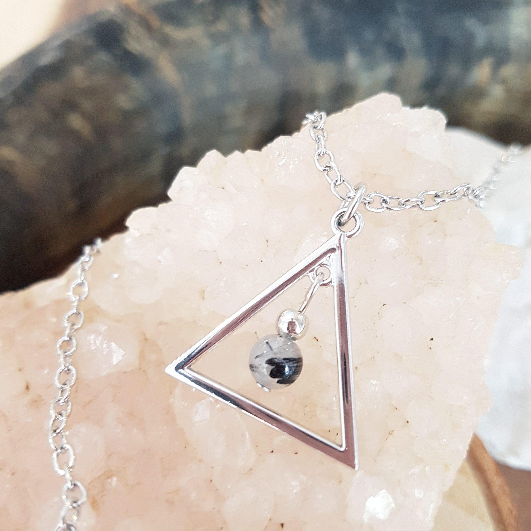 Toermalijn driehoek ketting