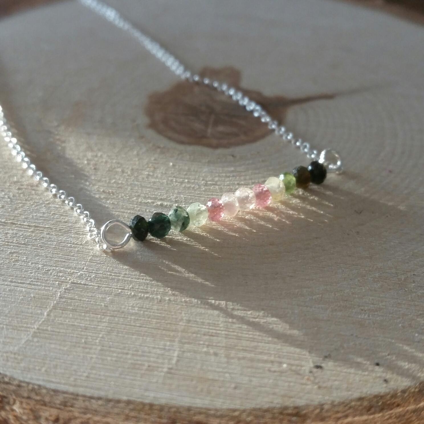 watermeloen toermalijn ketting sieraad armband kralen