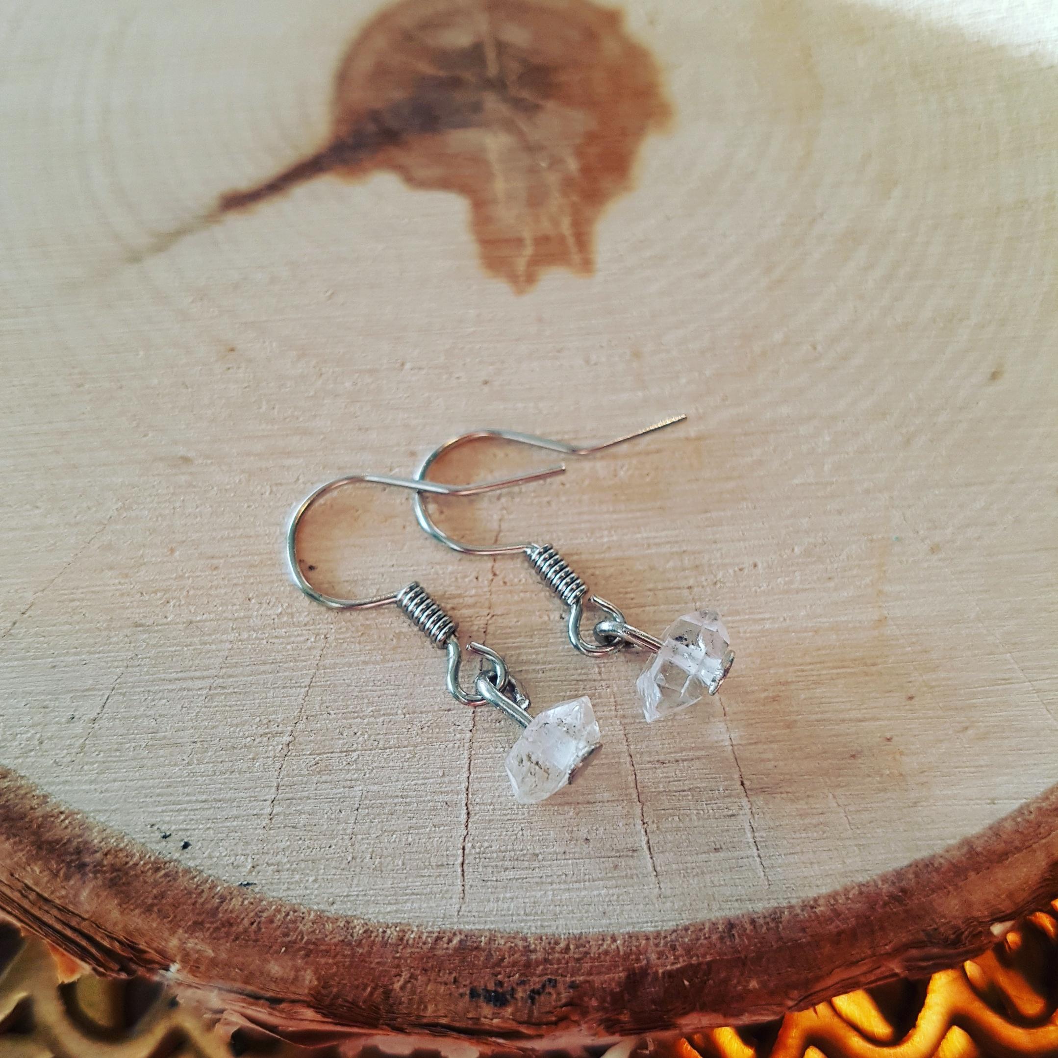 herkimer diamant oorbellen