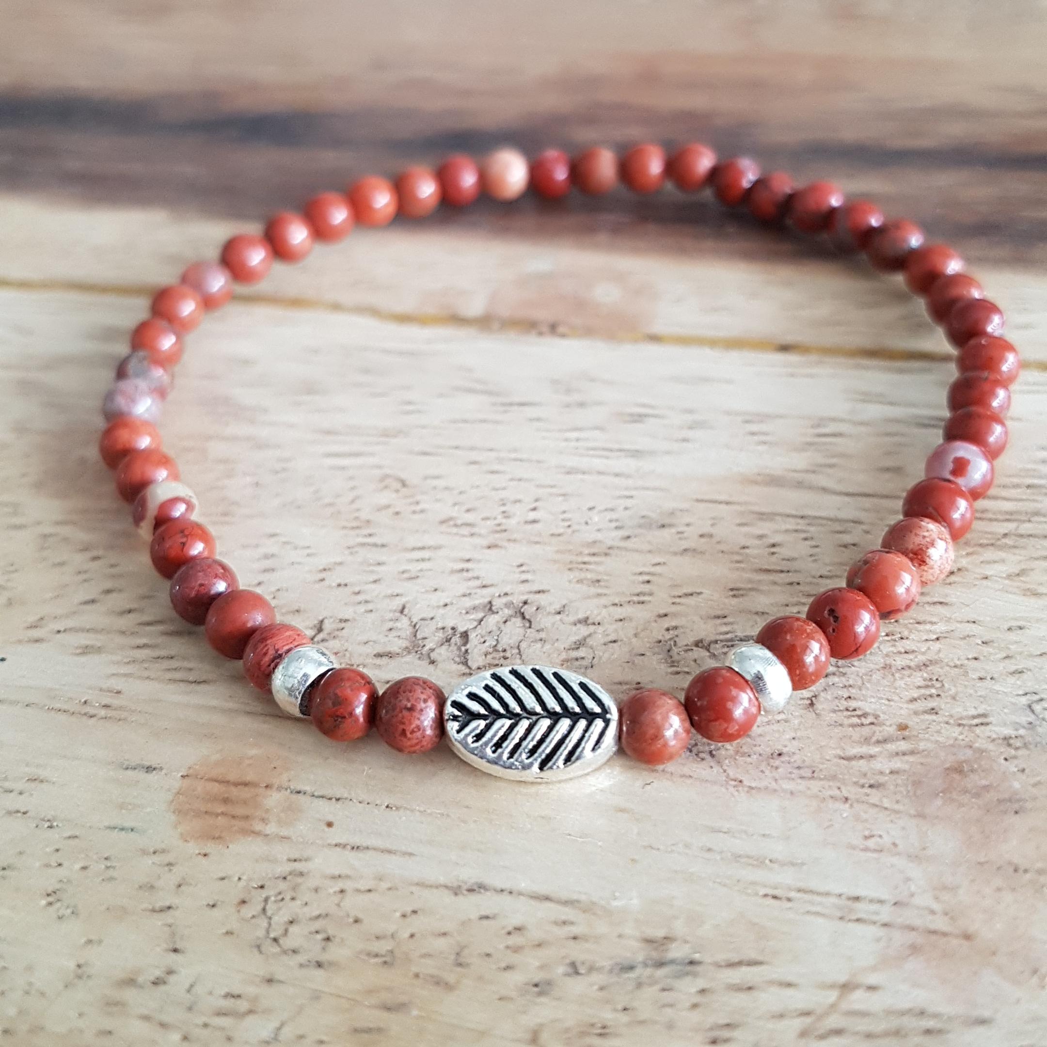 Rode Jaspis armband