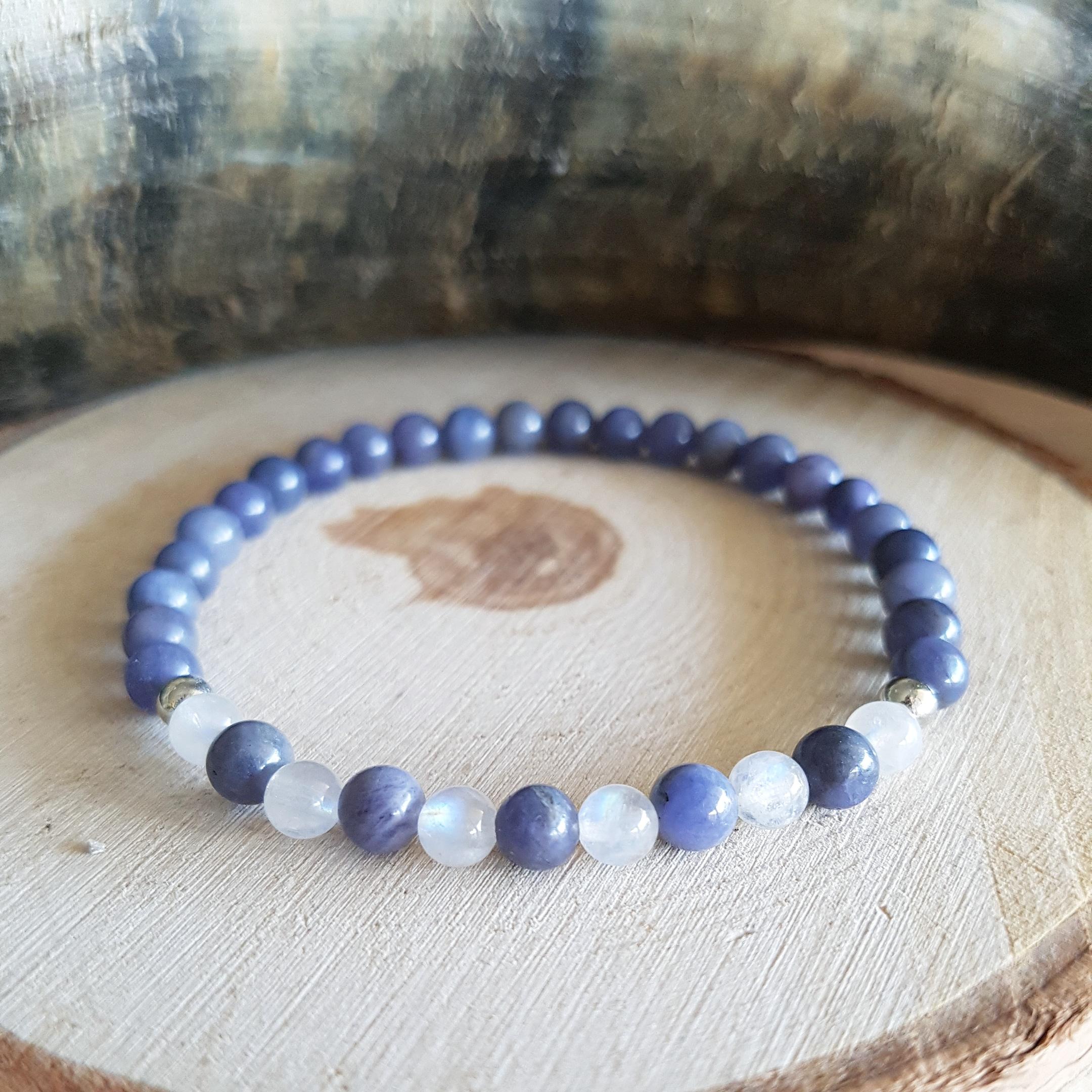 Tanzaniet maansteen armband