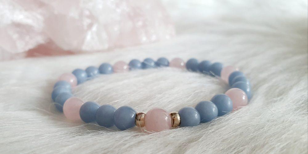 angeliet rozenkwarts armband